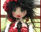 OOAK Art Doll Fairy Sprite Soft Sculpture Cloth Art Doll Delia