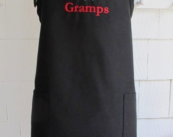 Father's Day Gift - Personalized Apron for Grilling - Apron for Man - Customized apron with name