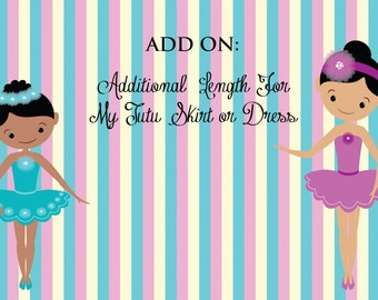 Additional Length for tutu dresses