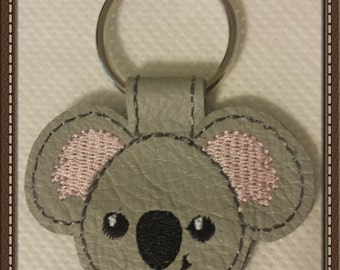Koala Bear Leather Keychain - FREE Shipping