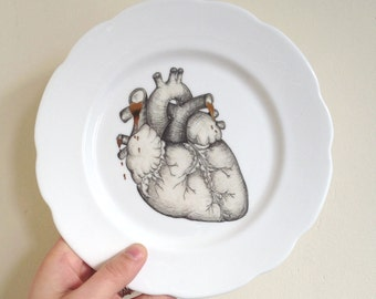Anatomical Heart Illustration Plate Art