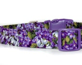Special Listing for edie40   Wisteria, Purple Floral Dog Collar