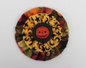 Jack O Lantern Button Yo Yo Button Brooch