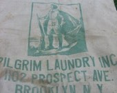 Vintage Pilgram Laundry Inc 1102 Prospect Ave. Brooklyn, N.Y. Sack