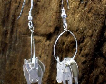 Horse Earrings, Pony earrings, Horse jewellery, Silver, Pony Jewellery, Horses, Ponies, Donkey, Animal jewellery, Horse Gifts, Pony Gifts.