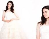 50s Ivory Lace Wedding Dress  - 50s Wedding Dresses -  Lace Wedding Dress  - The First Love's Kiss Dress - 5314