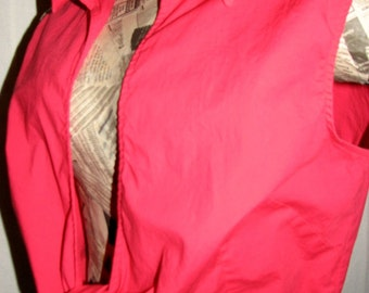Vintage Harve Benard Sexy Red Wrap Around Blouse Shirt Women's XL Cotton & Spandex