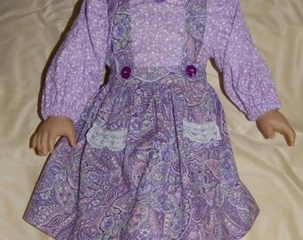 Purple Paisley Jumper and Shirt American Girl