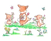 The Grand Easter Parade  -- Baby nursery print