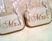 Wedding Signs Glitter Mr. & Mrs. Wedding Chair Signs Silver Wedding Decorations Bling Wedding