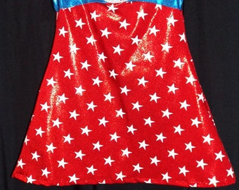 READY to SHIP!!! Lil' Mrs. Capt. America PREMADE Size 18 month - 36 month