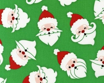 Merry Mustaches in Green - Caleb Gray for Robert Kaufman Fabrics