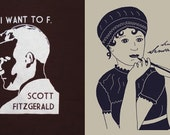 Literary Shirt 2-Pack! I Want to F. Scott Fitzgerald and Jane Austen Sense and Sensational Ladies or Mens/Unisex T-Shirts