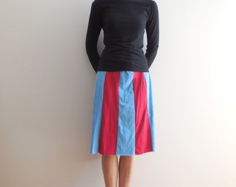 T-Shirt Skirt Women's T Shirt Skirt Recycled Tee Skirt Upcycled Skirt Knee Length Skirt Handmade Skirt Spring Summer Skirt ohzie