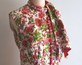 Vintage 60s Party Dress / Floral Shift Dress