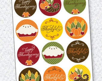 Thanksgiving PRINTABLES: Party Circles by Love The Day