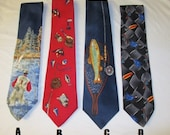 FISHING NECKTIE MENS Neck Tie - You Choose (1) Pattern - Fish Novelty
