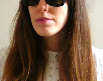 Angular Black Cats Eye Sunglasses Rockabilly 1950's Style Retro