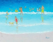 Beach Painting, beach decor, beach art, seascape, ocean painting, seaside beach art, coastal decor, beach house art, Jan Matson