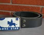 Lone Star License Plate   Belt Buckle