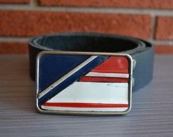 Vintage License Plate  Belt Buckle