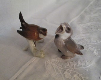 Bing & Grondahl PORCELAIN Baby Sparrow Chick  Birds Pair #1852 by Gatormom13 JUST REDUCED