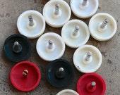 Vintage alarm clock knobs -- plastic head -- D6