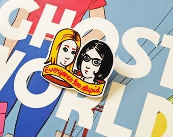 Ghost World Shrink Plastic Brooch - Made To Order