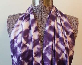Tie Dye Infinity Scarf -- Ultra Violet