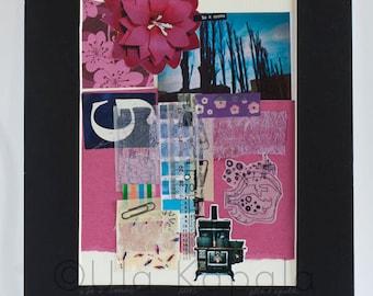 "OOAK Original art collage ""So it seems"""