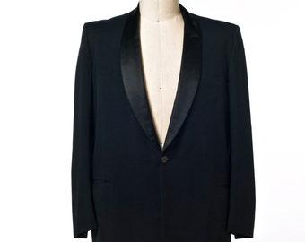 Men's Black Tux Jacket 60's/70's Vintage Mayer Israel's of New Orleans size 42?