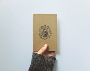 The Crest of Yoda Notebook - Sci Fi Wars Pocket Field Journal -  Kraft Star Log Book