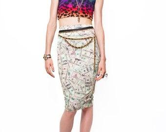 Money Maker Pencil Skirt