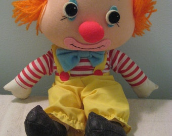 Vintage Dakin Clown Plush Toy