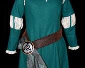 Adult Scottish Princess Costume Dress/ Cape/Belt/Buckle Custom Made