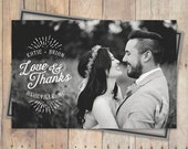 Thank You Cards Wedding, Thank You Wedding Cards - Love and Thanks