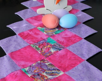 Pink and Lavender Easter Table Runner