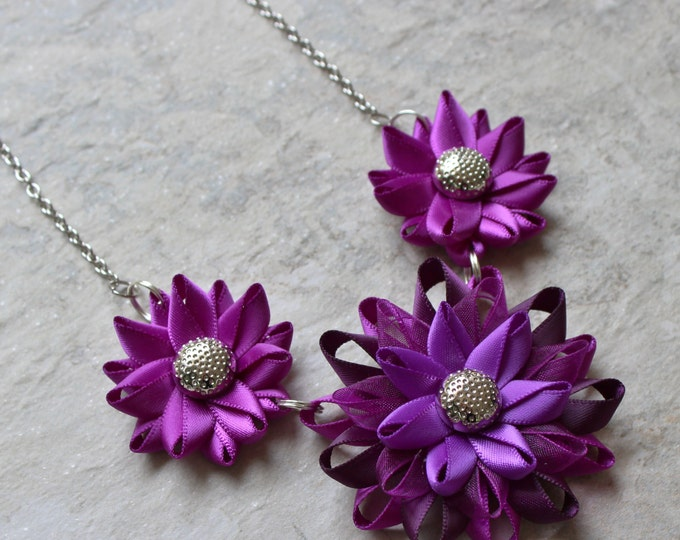 Violet Necklace, Violet Purple Necklace, Purple Wedding, Purple Statement Necklace, Purple Necklaces, Violet Jewelry, Bright Purple Necklace