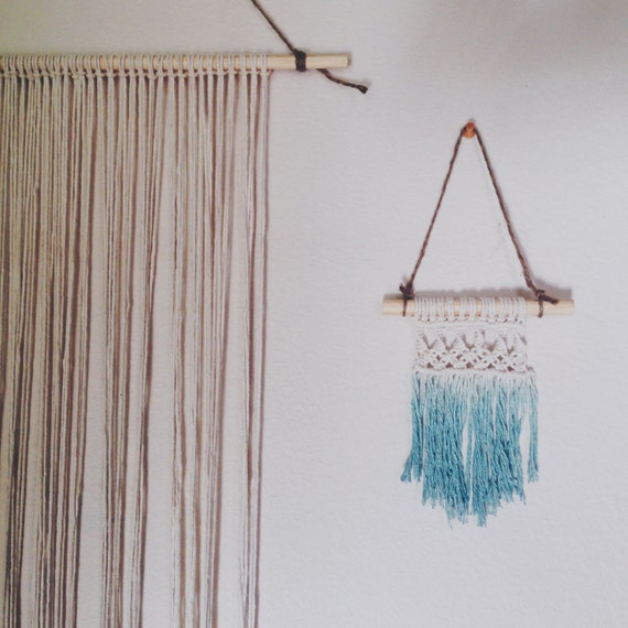 Mini Macrame Wall Hanging On Dowel