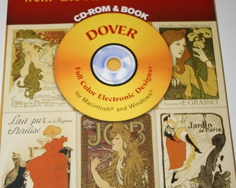 Dover Electronic Clipart Book and Cd Rom - CLASSIC POSTERS