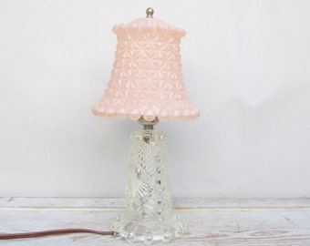 Crystal and Pink Lamp