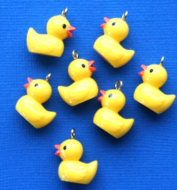 Rubber Ducky Charms on Etsy