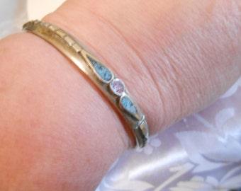 Vintage bracelet, Native American bracelet, coral and turquoise bracelet, 7 inch bracelet, tribal bracelet, vintage jewelry