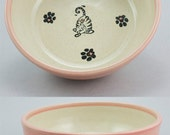 Spring Cat Bowl, Pink (Medium)