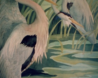 Great Blue Heron Cards, Prints