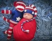 Newborn Photo Prop Patriotic Hat