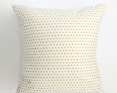 50% Off Was 35.00 Gold Dot Pillow - 18 x 18 Pillow Cover - Mini Dot in Gold and White Pillow Cover