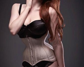 Nude Silk Longline Waist training Corset
