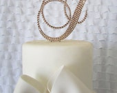 Crystal Monogram Wedding Cake Toppers - Swarovski Crystal cake topper