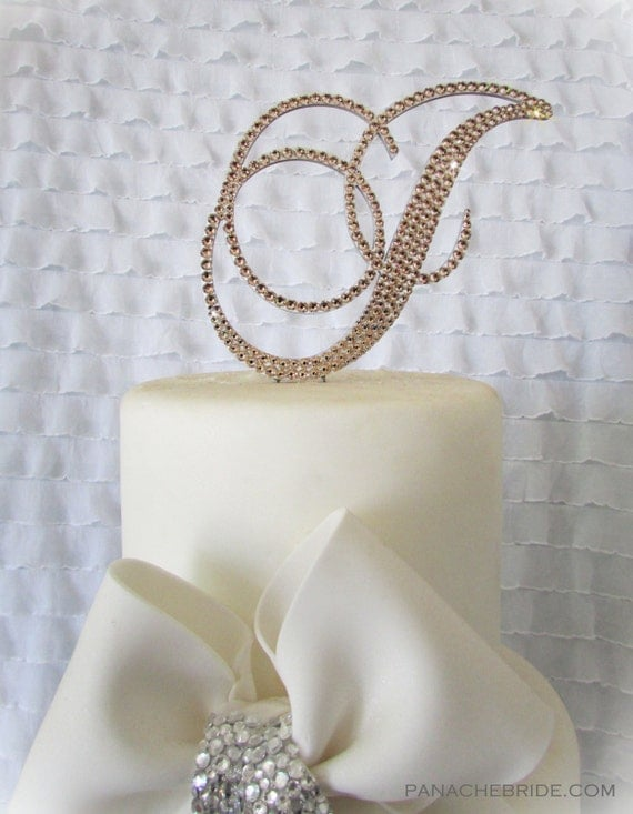 swarovski crystal monogram wedding cake topper monogram wedding cake toppers swarovski cake 20674
